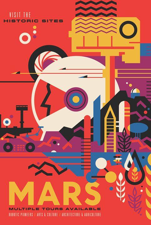 Retro Style Mars Poster - Classics