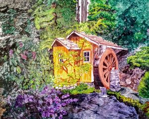 Waterwheel house