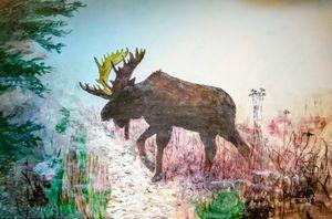 Misty moose