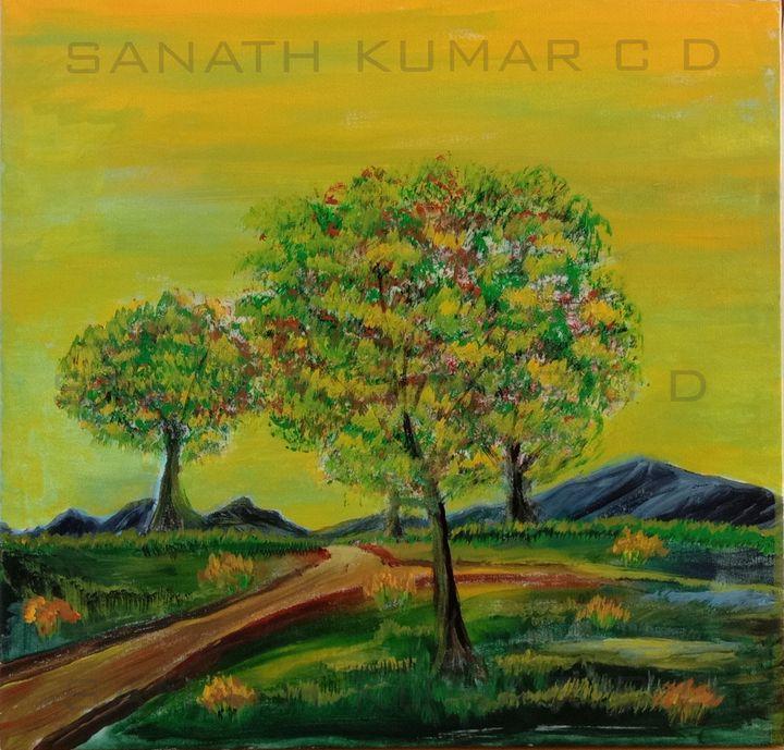 The road not taken - SANATH KUMAR ART GALLERY