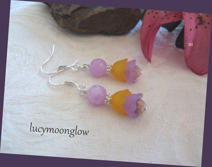 Lavender Jade Earrings - Lucymoonglow