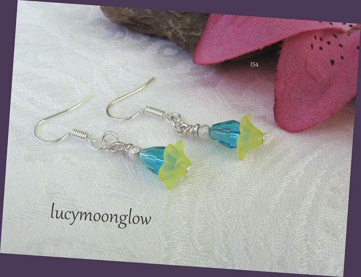 Sweet Aqua Briolette Earrings - Lucymoonglow