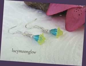 Sweet Aqua Briolette Earrings