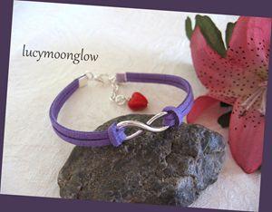 Purple Suede Infinity Bracelet