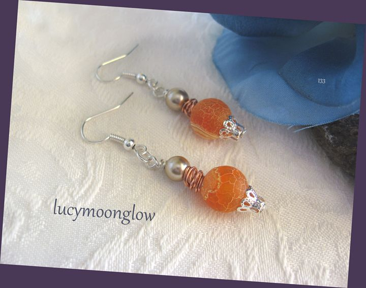 Dragon Vein Gemstone Earrings - Lucymoonglow