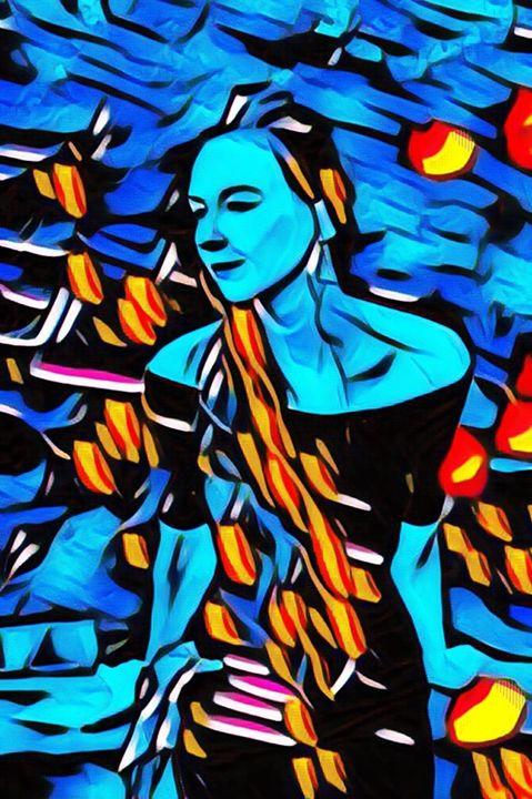 Vivacious Blue - Hannah De Morlaix