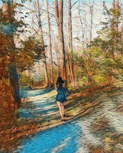Femme dans la forêt