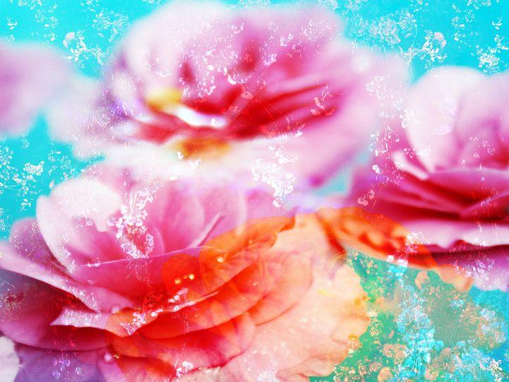 Flowers In Water 63 - Flowers by Alaya Gadeh