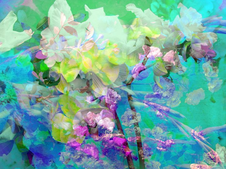 Into The Color Flush - Flowers by Alaya Gadeh