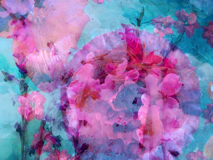 Purple Blue Dream - Flowers by Alaya Gadeh