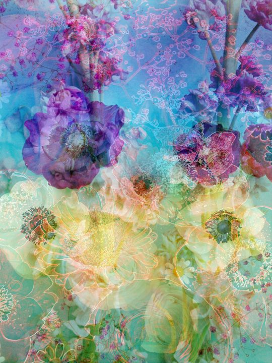 Floral Energy I - Flowers by Alaya Gadeh