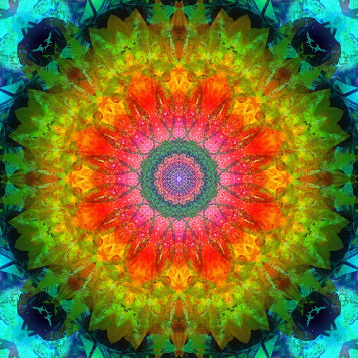 Blossom Energy Mandala - Flowers by Alaya Gadeh
