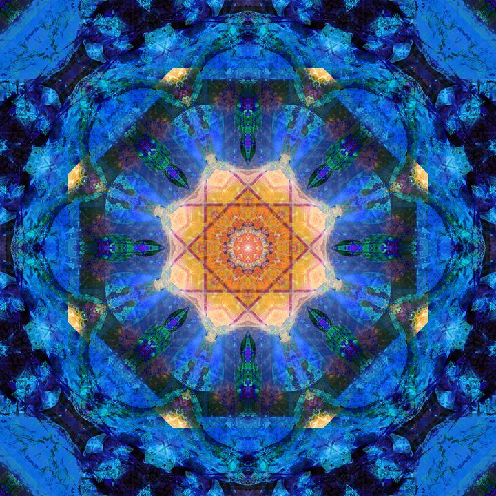 Universe Blue - Flowers by Alaya Gadeh