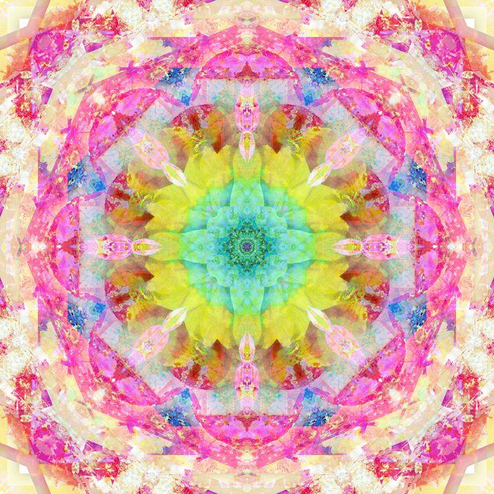 Energy Mandala 74 - Flowers by Alaya Gadeh