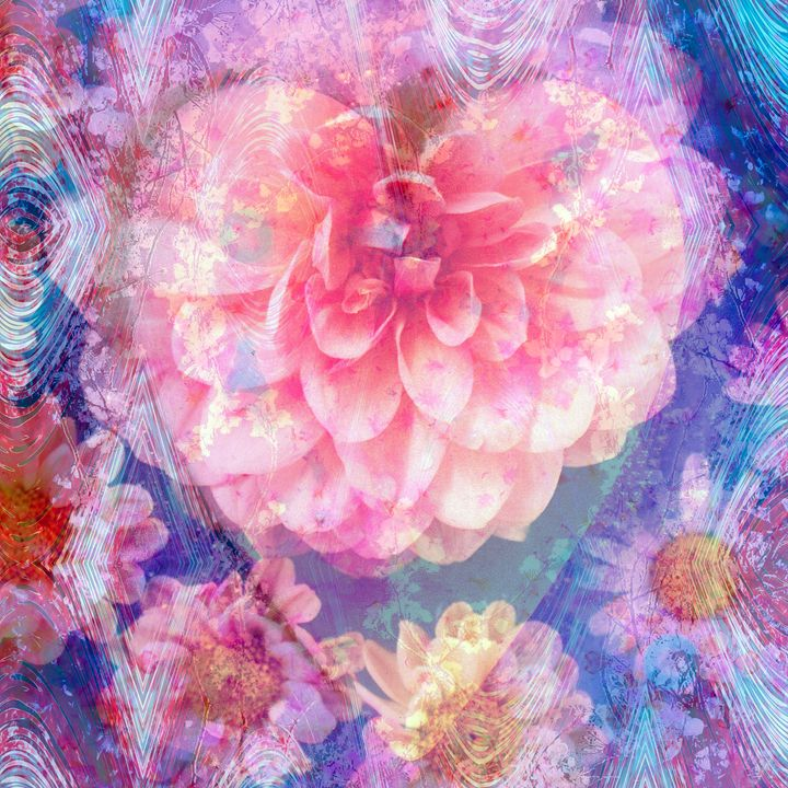 Dahlia Hearts - Flowers by Alaya Gadeh