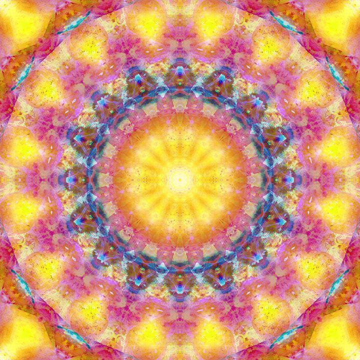 Sun Mandala 467 - Flowers by Alaya Gadeh