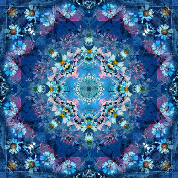 Ocean Bloom Mandala - Flowers by Alaya Gadeh