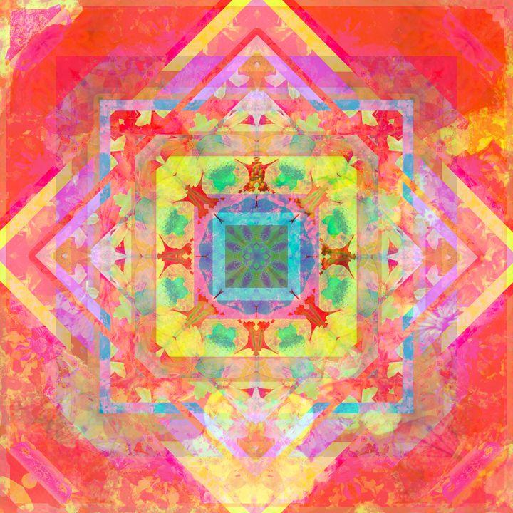 fotomontage geometrischer muster mit - Flowers by Alaya Gadeh