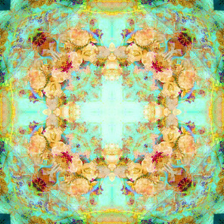 Flower Seashell Cross Ornament - Flowers by Alaya Gadeh