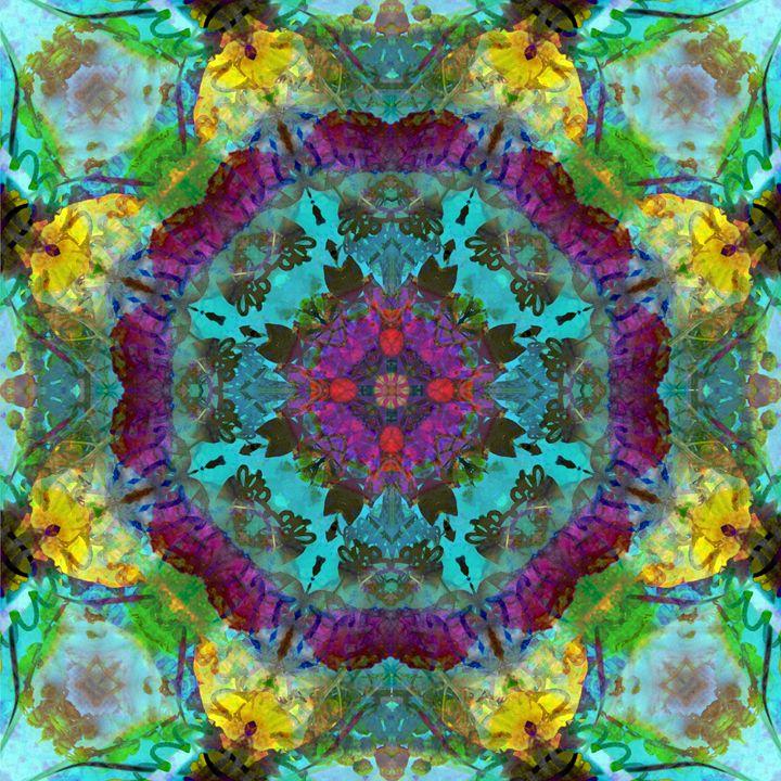 Purple Circle Blossom Mandala - Flowers by Alaya Gadeh