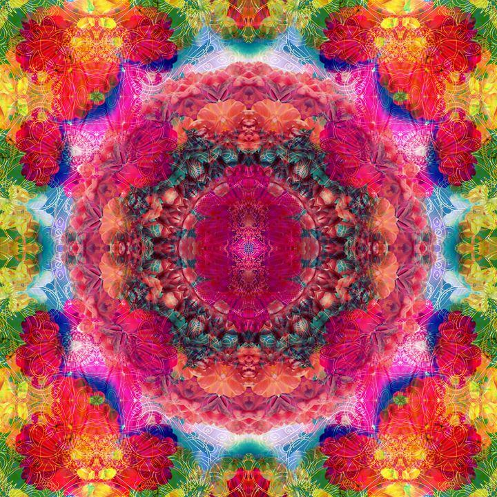 Flower & Apint Mandala - Flowers by Alaya Gadeh