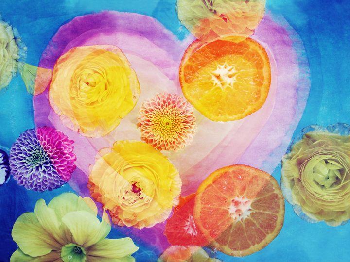 Flower & Fruit Heart - Flowers by Alaya Gadeh