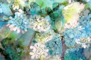 Into The Blue - Flowers by Alaya Gadeh