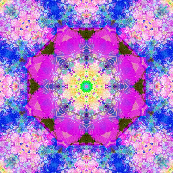 Violet Blossom Mandala XI - Flowers by Alaya Gadeh