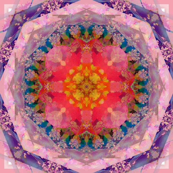All Is One Mandala Ornament - Flowers by Alaya Gadeh