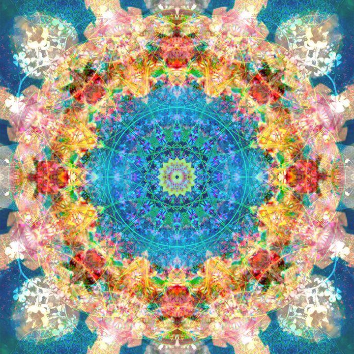 Blossom Circle Energy Ornament II - Flowers by Alaya Gadeh