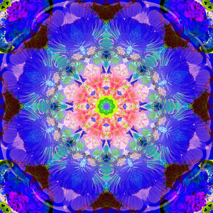 a mandala ornament from flower photo - Flowers by Alaya Gadeh