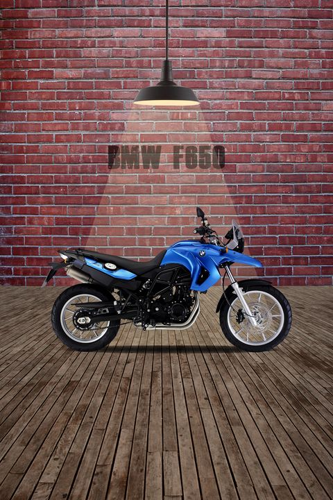 BMW F 650 Red Wall - Stephen Smith Galleries
