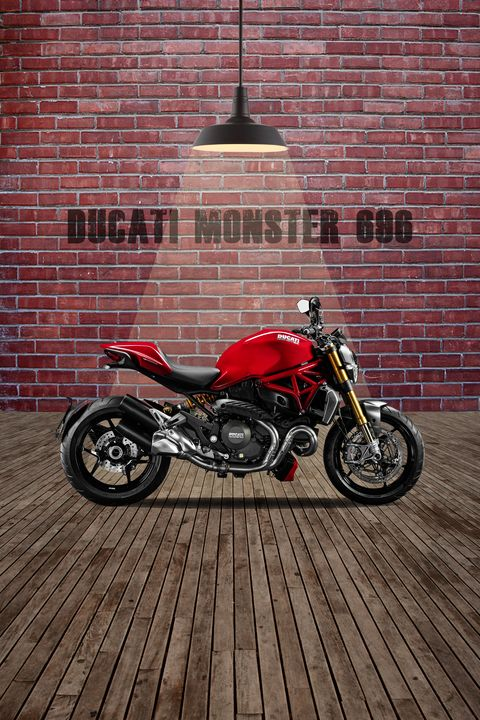 Ducati Monster 696 Red Wall - Stephen Smith Galleries