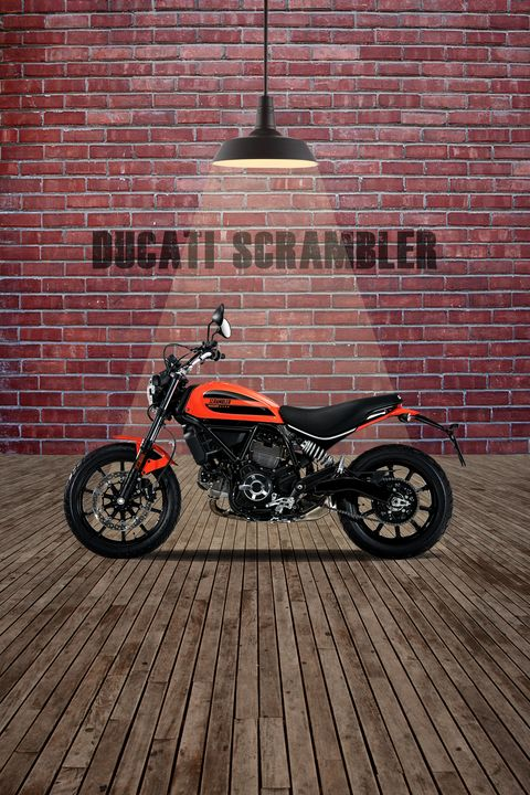 Ducati Scrambler Red Wall - Stephen Smith Galleries