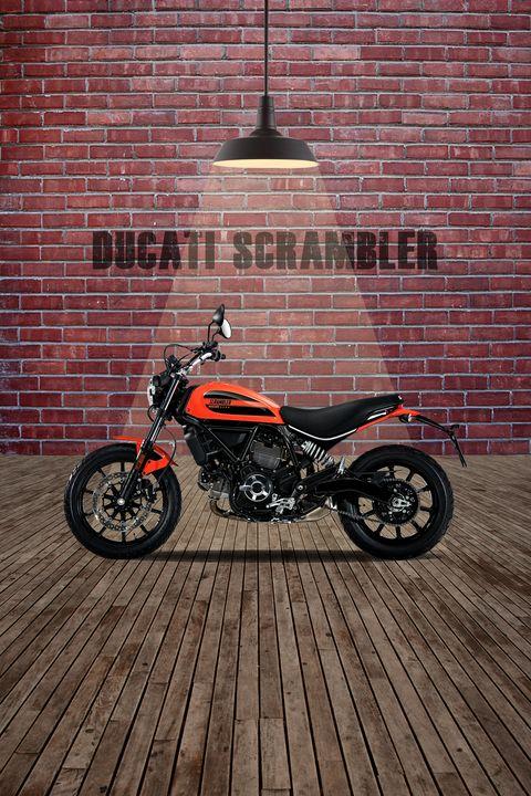 Ducati Scrambler Red Wall - Stephen Smith Galleries