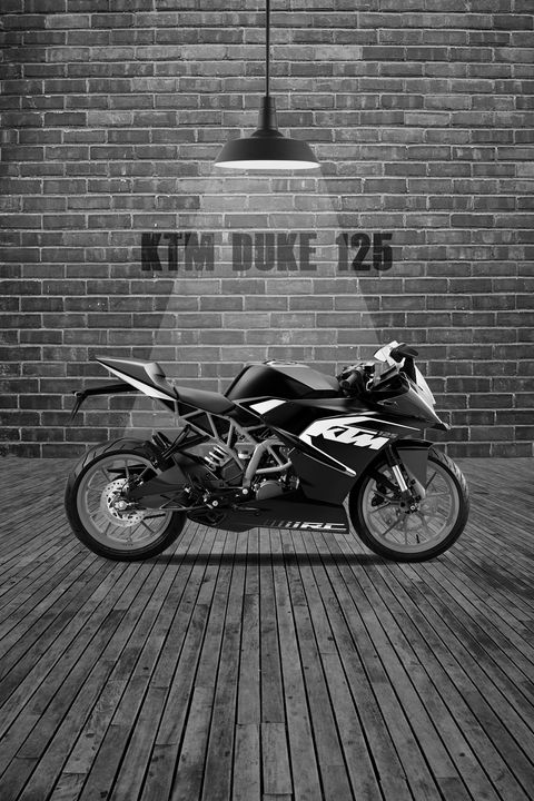 KTM Duke 125 Red Wall - Stephen Smith Galleries