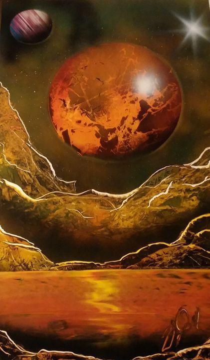 Orange planet - Phantom's Art & Design
