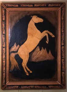 Sergeant Reckless ( Leather carving)