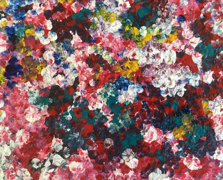 Beautiful pansies - Magdalena Knight Art