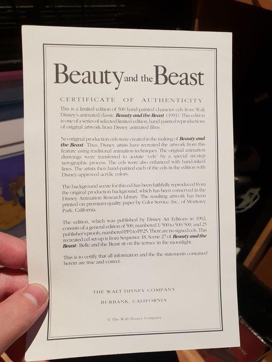 Certificate of Authenticity - Matthew Dawson