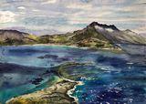 Island Sea view watercolor