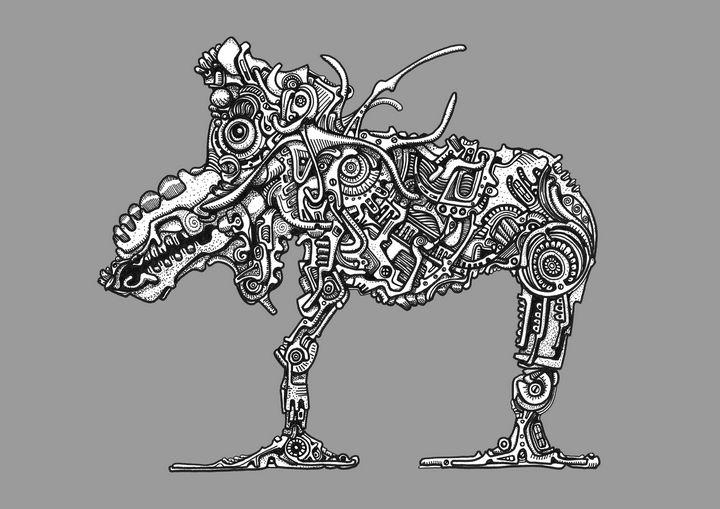 Electric Horsemoose - Chris Fryer Art