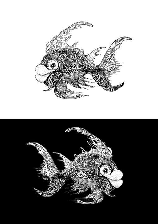 Fishy Fishfish - Chris Fryer Art