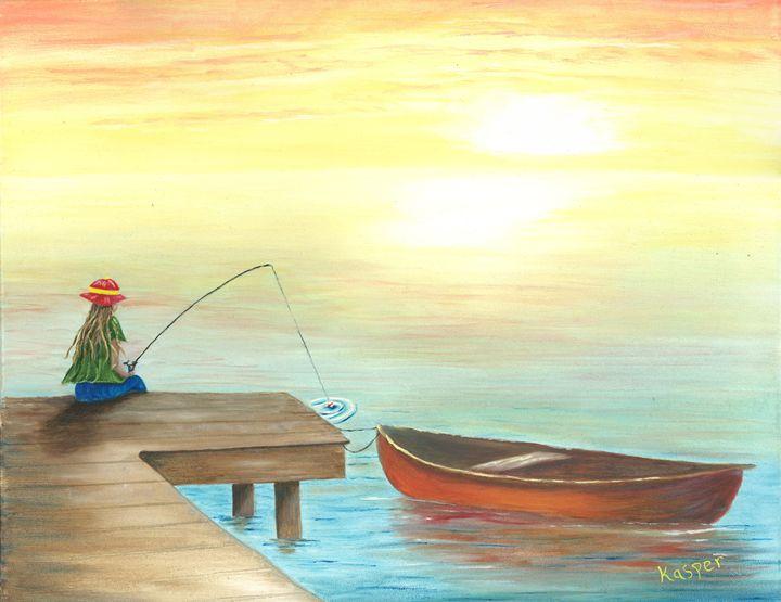 Girl Fishing - Kasper Gallery