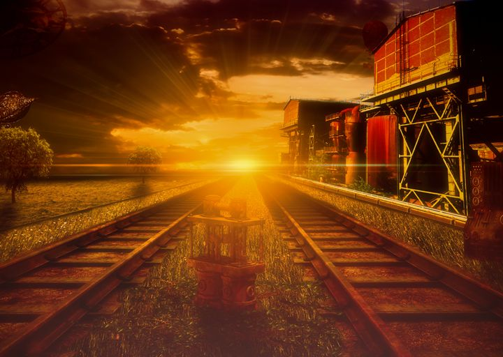 steampunk industrial train station - Gallery of Thomas