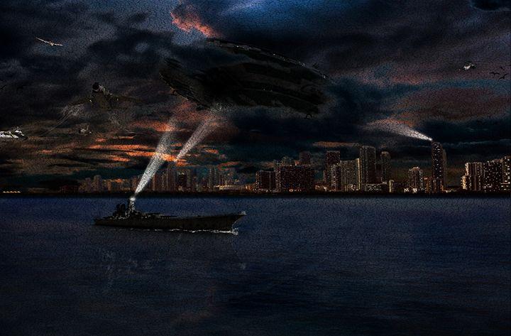 invasion of Miami painting - Gallery of Thomas
