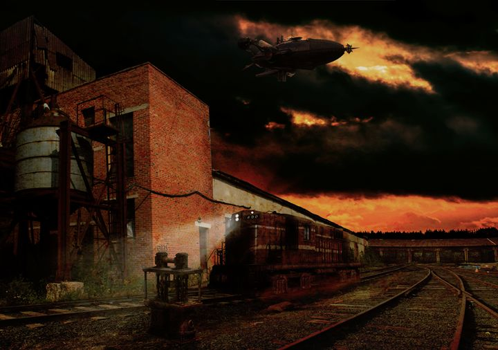 Steampunk rail station - Gallery of Thomas