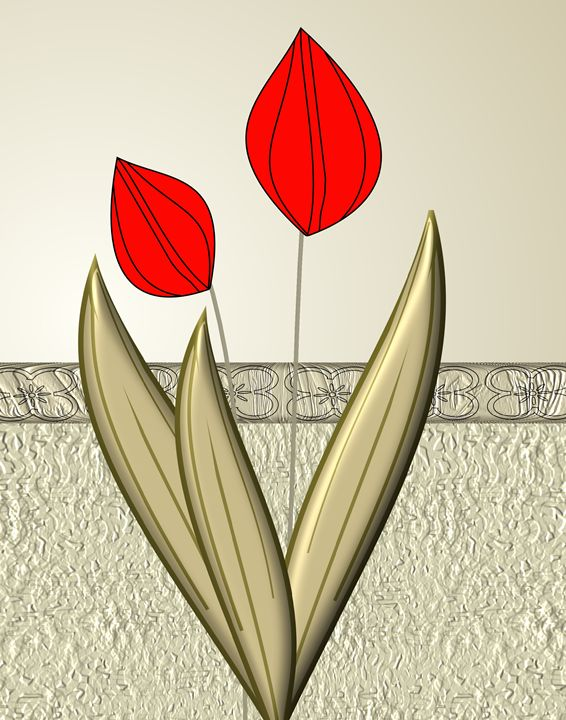 Red Tulips - Floral