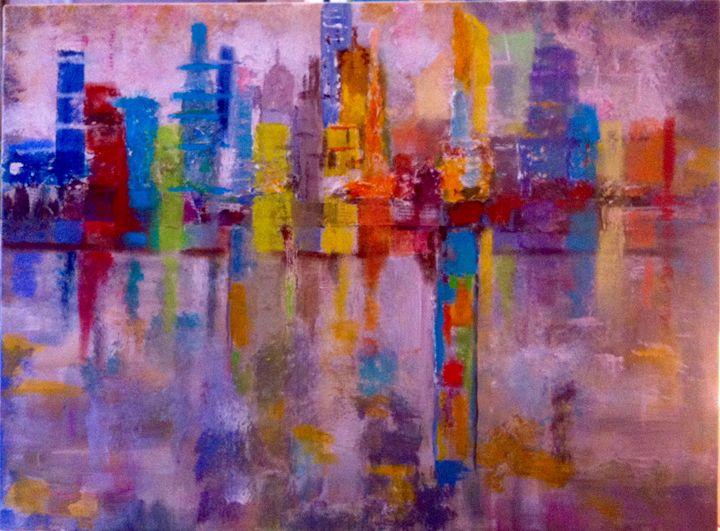 Brume rose sur la ville - Malou's Gallery