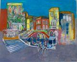 original work : transfert, painting,